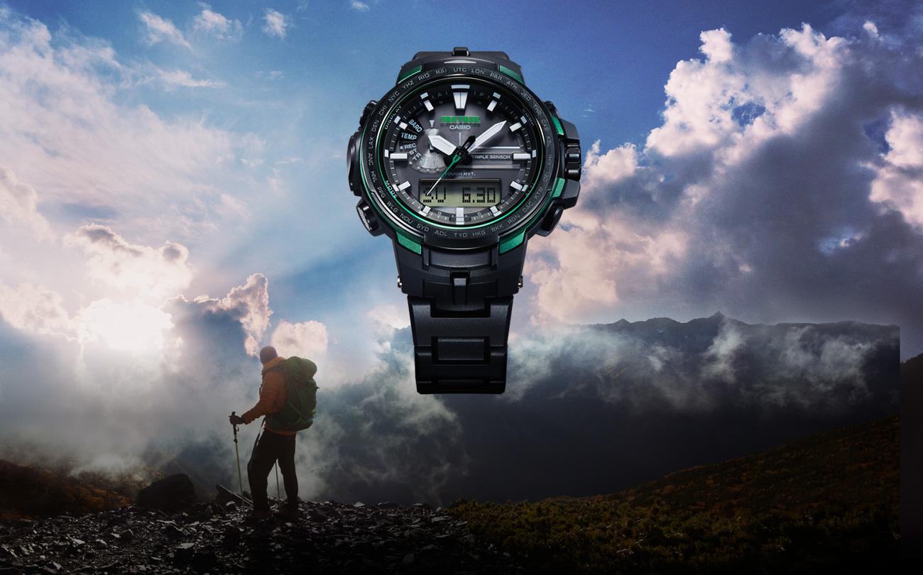Prw 6100 series pro trek mens watches casio for Mountain watches